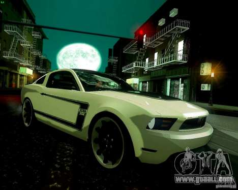 Ford Mustang Boss 302 2011 for GTA San Andreas back view