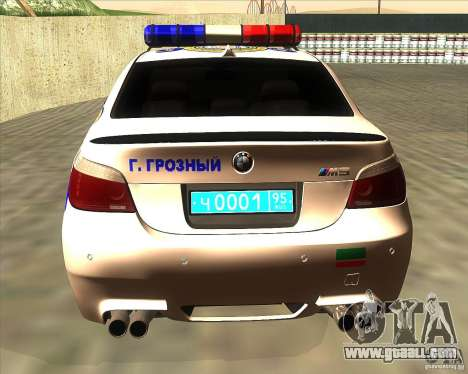 BMW M5 E60 Police for GTA San Andreas back left view