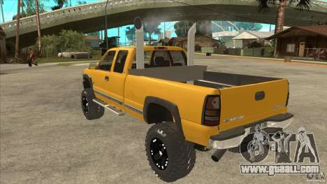 Chevrolet Silverado 2500 Lifted for GTA San Andreas back left view