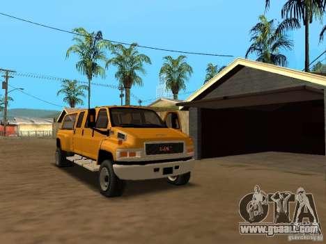 GMC TopKick for GTA San Andreas inner view