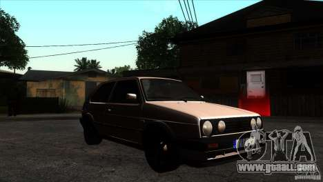 VW Golf 2 for GTA San Andreas back view