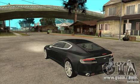 Aston Martin Rapide 2010 for GTA San Andreas back left view