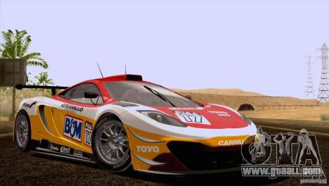 McLaren MP4-12C Speedhunters Edition for GTA San Andreas bottom view