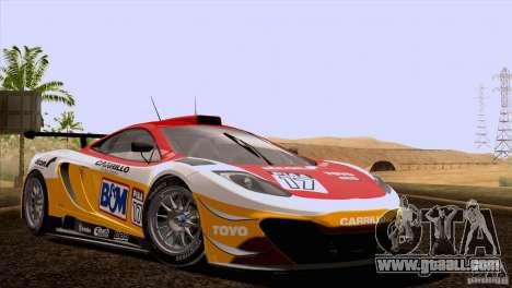 McLaren MP4-12C Speedhunters Edition for GTA San Andreas bottom view