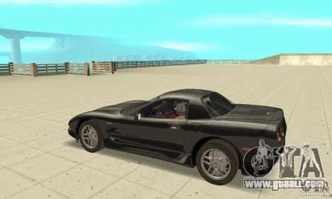 Chevrolet Corvette 5 for GTA San Andreas back view