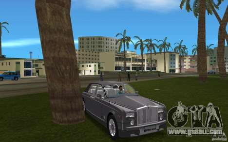 Rolls Royce Phantom for GTA Vice City back view