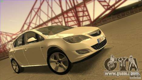 Opel Astra 2010 for GTA San Andreas interior