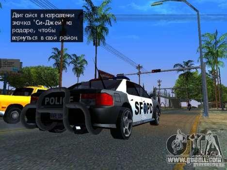 San-Fierro Sultan Copcar for GTA San Andreas left view