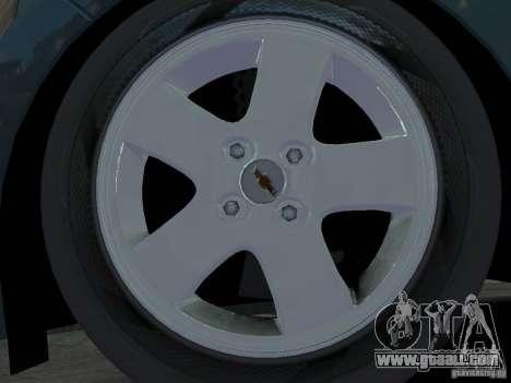 Chevrolet Spark for GTA 4 inner view