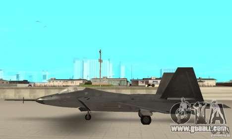 YF-22 Black for GTA San Andreas left view