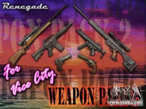 Gunpack from Renegade for GTA Vice City