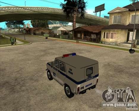 UAZ 31514 patrol for GTA San Andreas left view