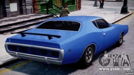 Dodge Charger RT 1971 v1.0 for GTA 4 back left view