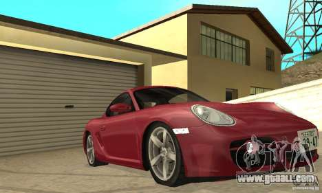 Porsche Cayman S for GTA San Andreas upper view