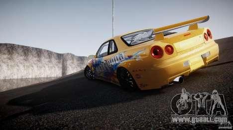 Nissan Skyline R34 GT-R Tezuka Goodyear D1 Drift for GTA 4 interior