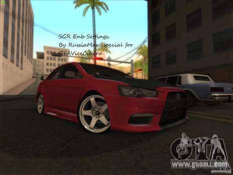 SGR ENB Settings for GTA San Andreas