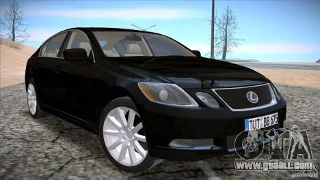 Lexus GS430 for GTA San Andreas back left view