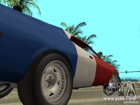 AMC Javelin 1970 for GTA San Andreas back view