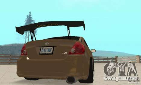 Toyota Scion tC Edited for GTA San Andreas inner view