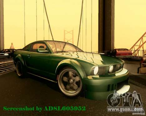 Ford Mustang GT 2005 Tunable for GTA San Andreas side view