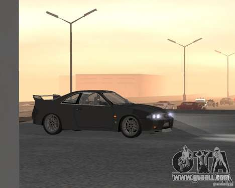 Nissan Skyline GT-R R-33 for GTA San Andreas upper view