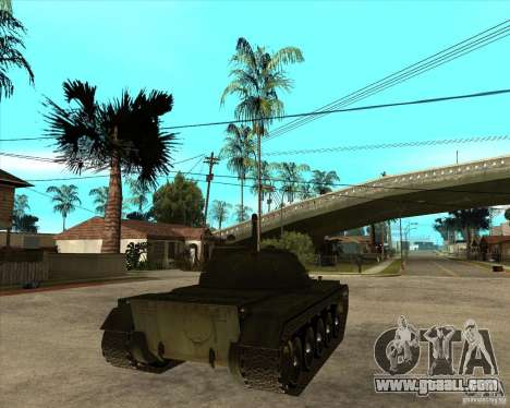 T-55 for GTA San Andreas back left view