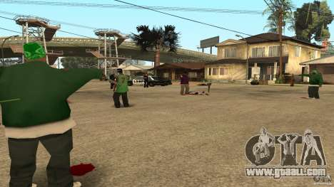 On Grove Street was attacked by Ballas for GTA San Andreas third screenshot