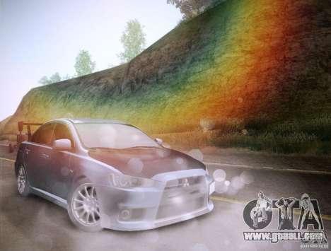 Mitsubishi Lancer Evolution Drift Edition for GTA San Andreas interior