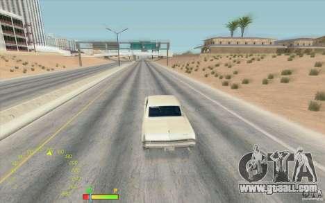 Speedometer and fuel gauge for GTA San Andreas second screenshot