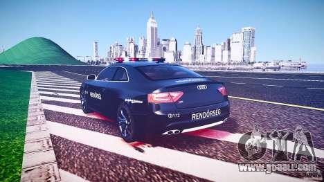 Audi S5 Hungarian Police Car black body for GTA 4 upper view