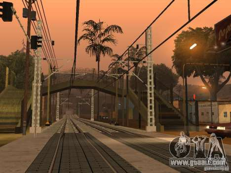 High speed RAILWAY line for GTA San Andreas