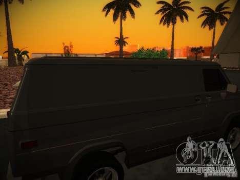 GMC Vandura for GTA San Andreas inner view