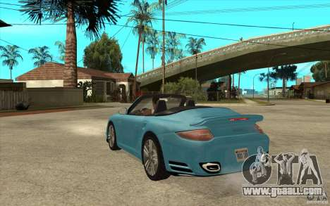 Porsche 911 Cabriolet 2010 for GTA San Andreas back left view