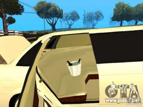 LADA 2170 Priora Limousine for GTA San Andreas back view