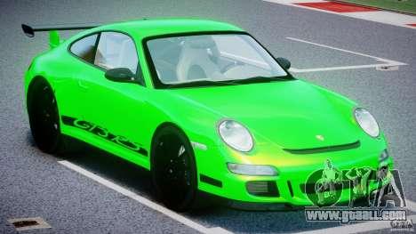 Porsche 997 GT3 RS for GTA 4 inner view