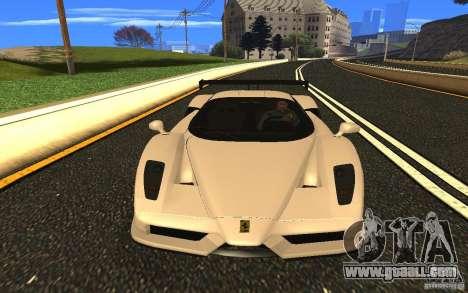 Ferrari Enzo ImVehFt for GTA San Andreas back view