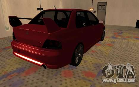 Mitsubishi Lancer Evolution VIII for GTA San Andreas back left view