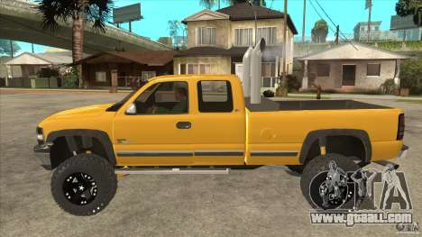 Chevrolet Silverado 2500 Lifted for GTA San Andreas left view