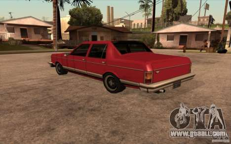 Regal 1987 San Andreas Stories for GTA San Andreas back left view