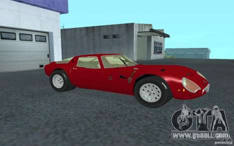 Alfa Romeo Gulia TZ2 1965 for GTA San Andreas left view