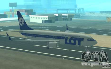 Boeing 737 LOT Polish Airlines for GTA San Andreas bottom view