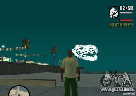Trollface Moon for GTA San Andreas