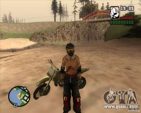The racer from the Fuel for GTA San Andreas second screenshot