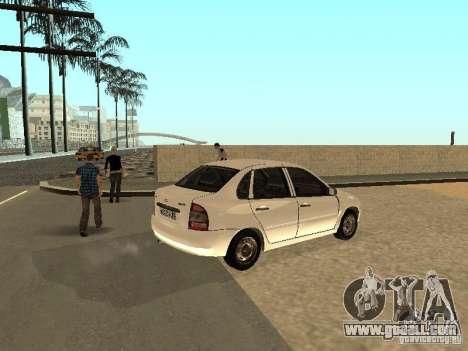 Lada Kalina for GTA San Andreas right view
