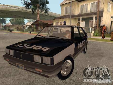 Renault 11 Police for GTA San Andreas back view