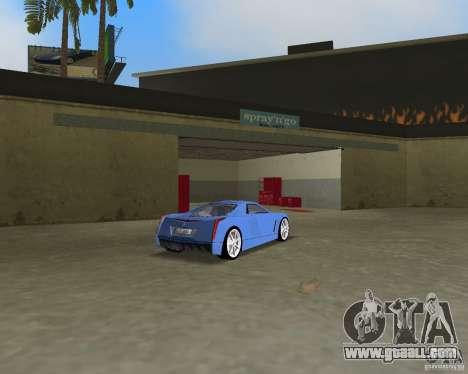 Cadillac Cien for GTA Vice City back view