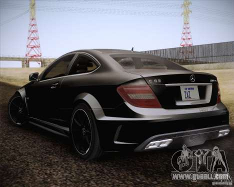 Mercedes-Benz C63 AMG Black Series for GTA San Andreas left view