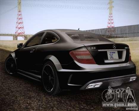 Mercedes-Benz C63 AMG Black Series for GTA San Andreas