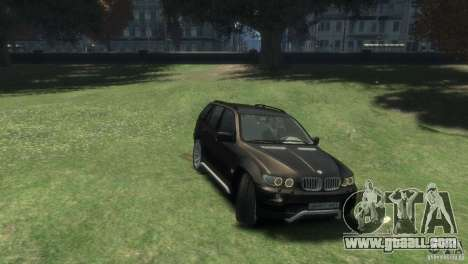 BMW X5 for GTA 4 right view