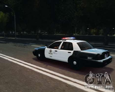 Ford Crown Victoria LAPD for GTA 4 side view